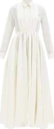 Jil Sander Nouvelle Papier-gauze Shirt Dress - Womens - Cream