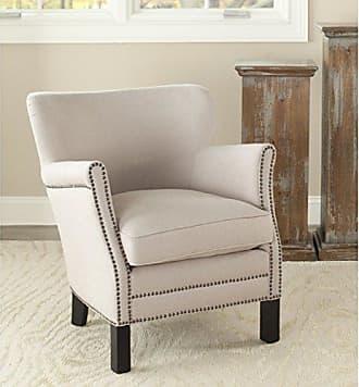 Safavieh Mercer Collection Connie Beige Linen Club Chair