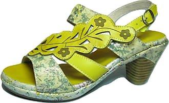 Laura Vita Beclforto 12 Womens Fashion Sandals, schuhgröße_1:36, Farbe:Yellow