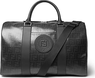 Fendi Leather-trimmed Logo-print Coated-canvas Holdall - Black 927bc0c0cc416