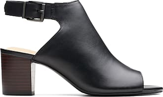 Clarks Womens Sandal Black Leather Clarks Deloria Gia Size 9.5