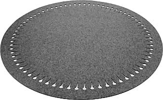 Hey-Sign Pappus Teppich Ø150cm - graphitgrau/Filz/5mm/H 0,5cm / Ø 150cm/mit Lochmuster