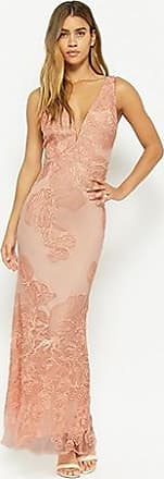 Forever 21 Forever 21 Metallic Embroidered Mesh Gown Peach/rose