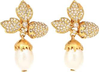 Oscar De La Renta Faux pearl clip-on earrings