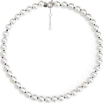 Misaki Collier ras de cou Bb de perles blanches