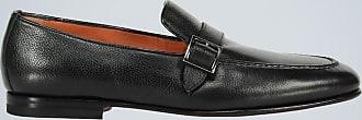 Santoni Buckled leather loafers