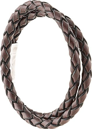 Tateossian double wrap braided bracelet - Marrom