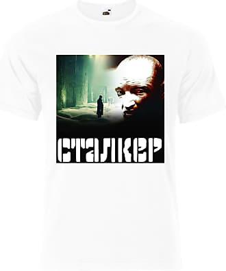 Gildan Stalker 1979 Film Russian Roadside Picnic Mens Tee Shirt Top - White - 22 inches - X-Large