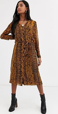 Ichi Transparentes Kleid mit Schlangenmuster-Mehrfarbig