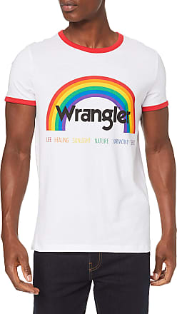Wrangler Mens Pride Tee T-Shirt, White (White 989), X-Large