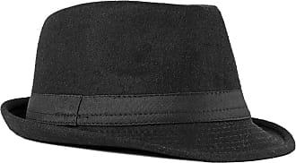 Zhhlaixing Fedoras Trilby Hats Unisex Classic Bowler Caps Gangster Fascinators Panama Hat Vintage Style Roll-up Short Brim Jazz Hat for Adult Men Woman 56-58CM B