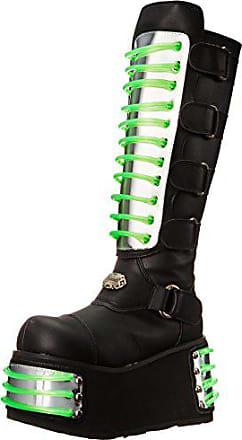b3f5c655e13ca0 Demonia Techno-854UV - UV-reaktive Gothic Industrial Cyber Mega Plateau  Stiefel Schuhe 36