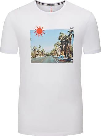 Sun 68 Übergröße : Sun 68, T-Shirt mit Frontprint in Weiss für Herren