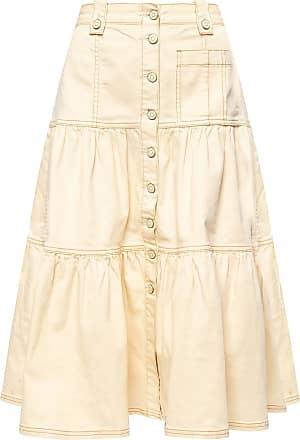 Ulla Johnson Graham Skirt With Buttons Womens Cream