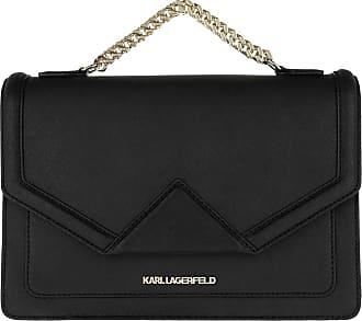 a9f6e0ed9e Karl Lagerfeld K/Klassik Shoulderbag Black/Gold Umhängetasche schwarz