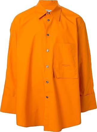 Wooyoungmi Camisa oversized com bolso - Laranja