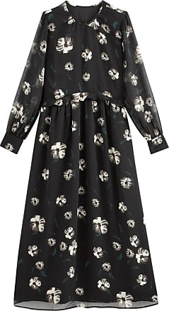 La Redoute Collections Langes Kleid mit Blumenprint - SCHWARZ - LA REDOUTE COLLECTIONS