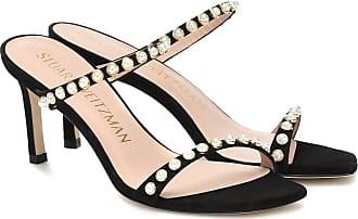 Stuart Weitzman Aleena 75 embellished suede sandals