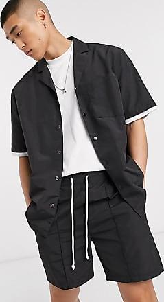 Collusion nylon boxy shirt in black