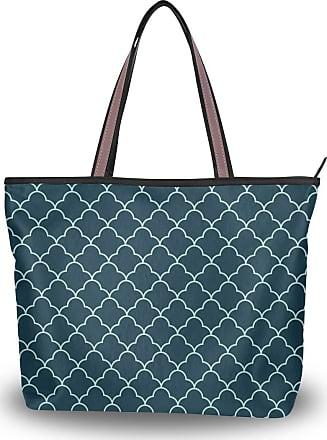 Lorona Women Abstract Art Deco Pattern Canvas Shoulder Hand Bag Large Capacity Tote Bag