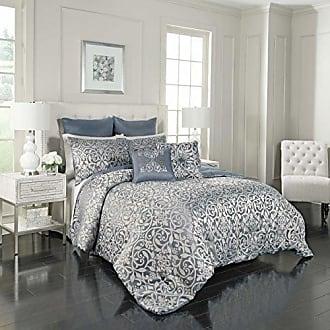 Ellery Homestyles Vue Signature Livvy 7-Piece Comforter Set, Queen, Blue