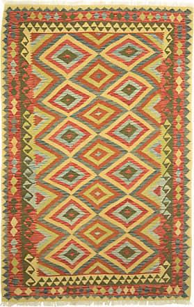 Nain Trading 244x155 Oriental Kilim Afghan Rug Beige/Olive Green (Wool, Afghanistan, Handwoven)
