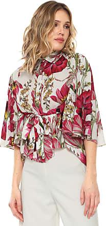 Lança Perfume Camisa Lança Perfume Estampada com Amarração Branca/Rosa