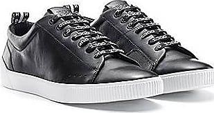 HUGO BOSS Lowtop Sneakers aus Nappaleder mit Logo-Schnürsenkeln
