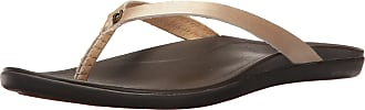 Olukai Olukai Hoopio Leather Sandals- Womens Bubbly/Dark Java 10