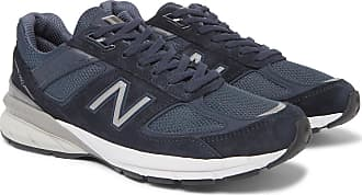 New Balance M990v5 Suede And Mesh Sneakers - Navy