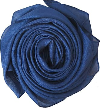 Lina & Lily Sheer Lightweight Summer Scarf for Weddings Party Evening Beach (Indigo)