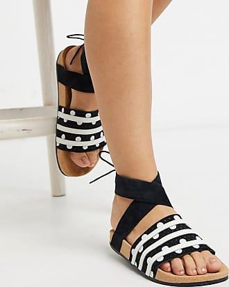 adidas Originals Schwarze Adiletten mit Knöchelriemen