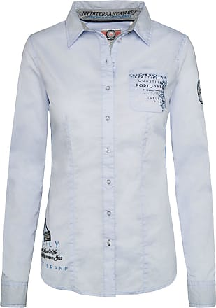 Soccx Longbluse Mit Brusttaschen Weiß