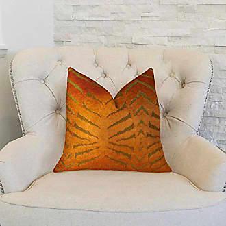 Plutus Brands Plutus Magnetism Handmade Throw Pillow 16 x 16 Orange
