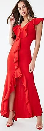 Forever 21 Forever 21 Ruffled Flounce Dress Red