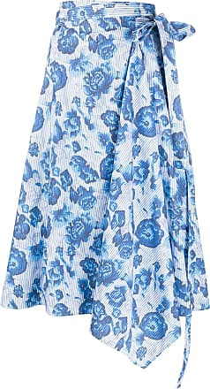 Pringle Of Scotland Saia envelope floral - Azul