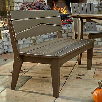 UWharrie Chair Outdoor Uwharrie Hourglass Armless Patio Bench with Back - H073-073W