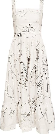Alexander McQueen Printed Dress Womens White