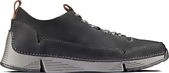 Clarks Mens Shoe Dark Grey Clarks Tri Spark Size 10.5