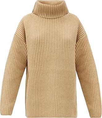 Joseph Brioche-stitched Wool Roll-neck Sweater - Womens - Camel