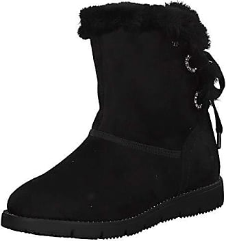 Tom Tailor Damen Stiefel Boots Winterschuhe 5893110 Braun Weiß Neu