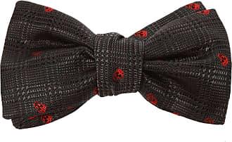 Alexander McQueen Silk Bow Tie Mens Grey