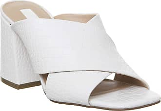 Office Mansion Extreme Chunky Trend Mule White Croc - 4 UK
