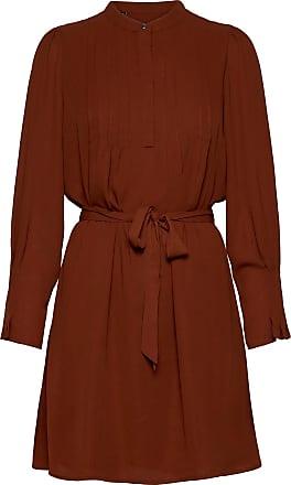 Selected Slflivia Ls Short Dress B Noos Knälång Klänning Röd Selected Femme