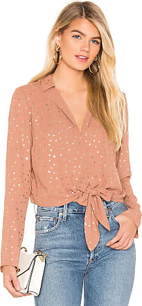 BCBGeneration Tie Front Star Top in Mauve