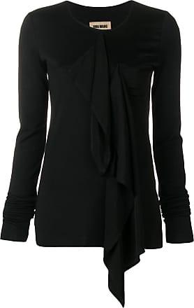 Uma Wang front ruffled jumper - Black