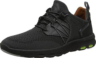 Rockport Mens Lets Walk mesh Bungee Trainers, Black (Black 001), 11.5 (46.5 EU)