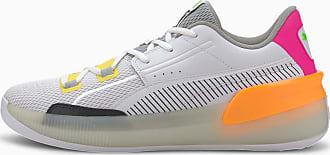 Puma Womens PUMA Clyde Hardwood Retro Basketball Shoe Sneakers, White/Orange Pop, size 8.5, Shoes