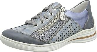 Rieker Womens Frühjahr/Sommer M35G6 Low-Top Sneakers, Blue (Adria/Heaven/Adria/Sky 12), 6.5 UK