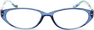 Inlefen Oval Reading Glasses Small Eyewear Spring Hinge Resin lens for Men women